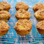 Sour Cream-Peach Muffins
