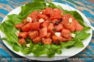 Watermelon, Arugula and Feta Salad