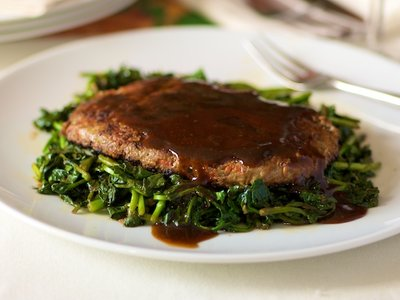 Asian Salisbury Steaks & Watercress