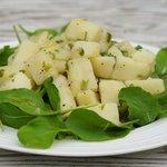 Arugula and Potato with Garlic Vinaigrette