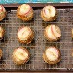 Upside Down Nectarine Muffins
