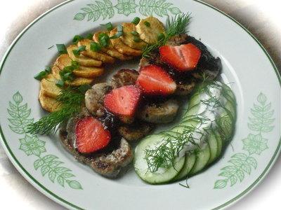 Five Spice Pork Tenderloin with Strawberry Balsamic Sauce