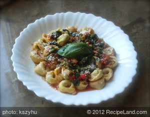 Tortellini And Spinach Stew