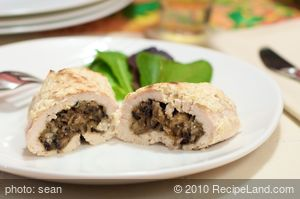 Mushroom Stuffed Chicken Breasts