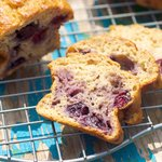 Applesauce Blueberry Banana Bread