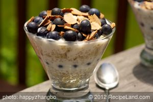 Quinoa, Blueberry and Yogurt Parfait