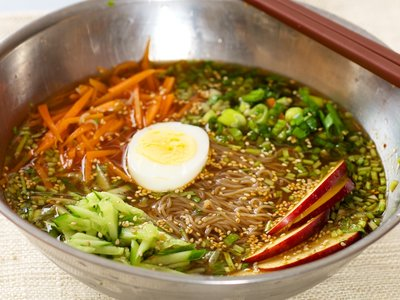 Korean Sweet and Sour Cold Noodles