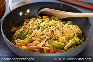 Stir-Fried Veggies with Soba Noodles
