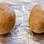First prepare the potatoes.