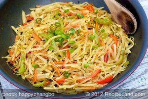 Potato, Carrot and Bell Pepper Stir-Fry