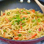 Potato, Carrot and Bell Pepper Stir-Fry