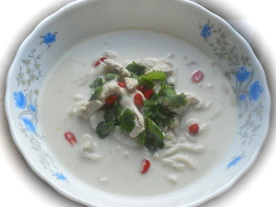 Thai Chicken and Coconut Milk Soup (Tom Ka Gai or Kai Tom Ga)
