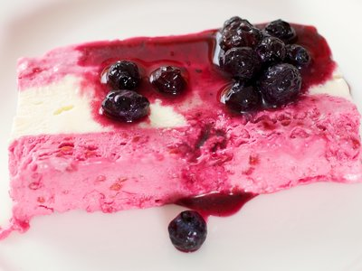 Raspberry and Vanilla Semifreddo