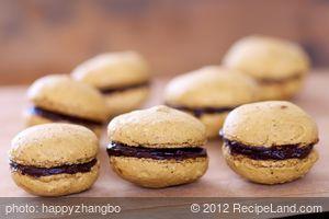 Coffee and Chocolate Ganache Macarons