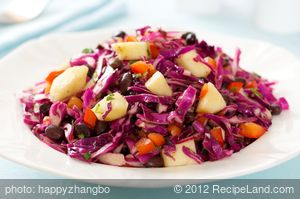 Black Bean Slaw with Soy Ginger Dressing