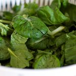 Stir in the tatsoi or spinach,