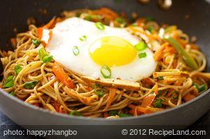 Sichuan Stir-Fried Vegetables with Noodles