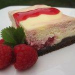 Raspberry Swirl Cheesecake Squares