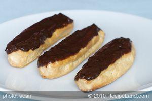 Caramel Chocolate Eclairs