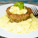 Baked Sausage Cups and Scrambled Eggs