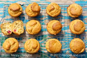 Banana-Rhubarb Muffins