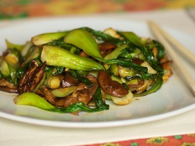 Bok Choy, Shiitake Mushroom Stir-fry