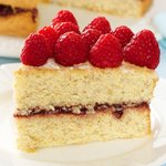 Almond Raspberry Layered Cake