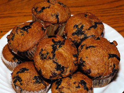 Low-Fat Blueberry Buttermilk Bran Muffins