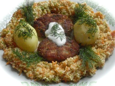 Minced Meat Cutlets with White Radish and Sesame