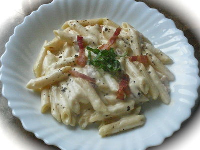 20 Minute Penne Carbonara for Two