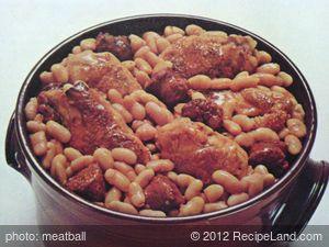 Algerian Chicken with Beans & Sausage