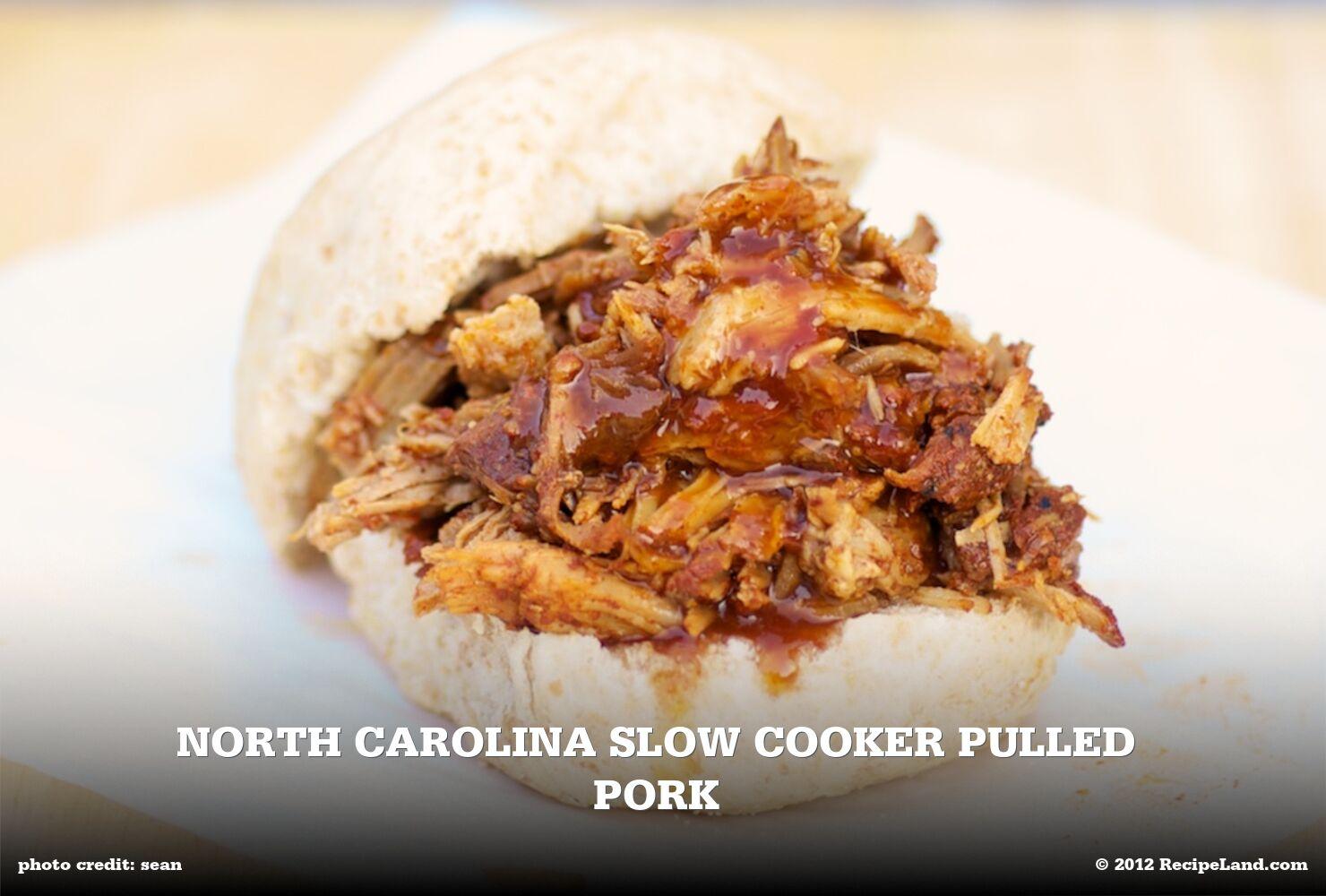 North Carolina Slow Cooker Pulled Pork