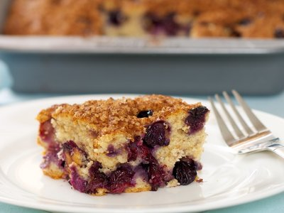 Best Ever Blueberry Coffee Cake (Low Fat)