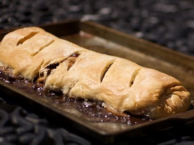 Apple Cranberry Strudel