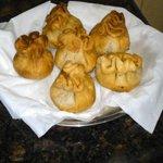 crunchy potli samosas