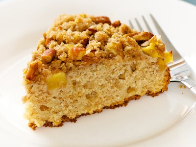 Peach Coffee Cake (Low Fat)