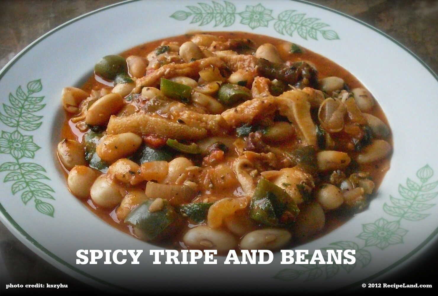 Spicy Tripe and Beans