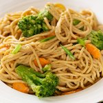 Soy-Peanut Sauce Noodle with Broccoli