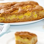 Whole Wheat Peach Coffee Cake