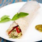 Pesto Chicken and Pepper Wraps