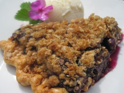 Fresh Blueberry Crumb Pie