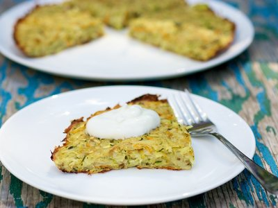 Cheesy Crispy Potato and Zucchini Pancakes