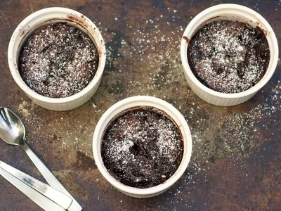 Cherry Chocolate Self-Saucing Pudding