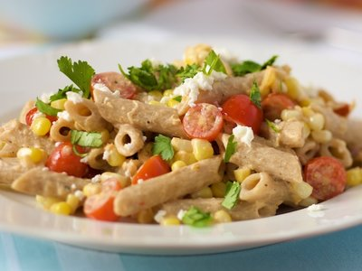 Corn and Tomato Smoky Penne Pasta