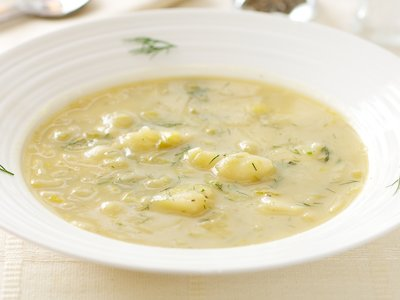 Creamless Leek & Potato Soup (Pressure Cooked)