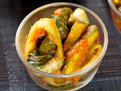 Easy Korean Cucumber and Bok Choy Kimchi