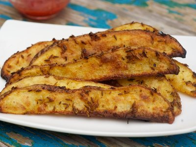 Garlicky Cumin Oven Fries