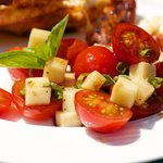 Cherry Tomato, Basil and Mozzarella Salad