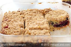 Cherry Crumb Coffee Cake (Healthier Version)