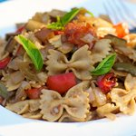 Pasta with Roasted Vegetables And Balsamic Vinegar